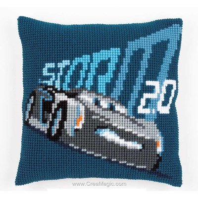 Kit coussin point de croix disney cars - jackson storm de Vervaco