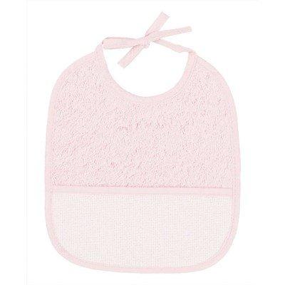 Bavoir bébé à broder 6 mois rose classique - DMC