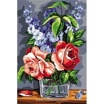Canevas de rose et de bleu de SEG