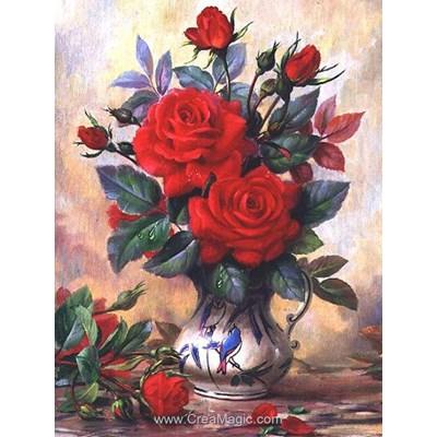 Kit broderie diamant beautiful roses de Diamond Painting