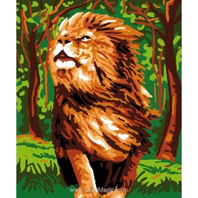 Kit canevas enfant Luc Création lion