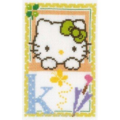 Modèle point de croix hello kitty lettre k - Vervaco