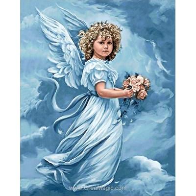 Kit broderie diamant angel with flowers de Wizardi