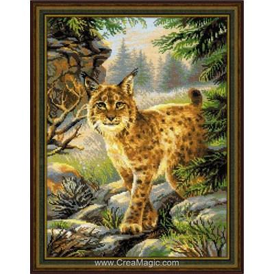 Modèle au point de croix lynx de la forêt de RIOLIS