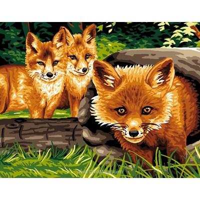 Les 3 renardeaux canevas - Luc Création