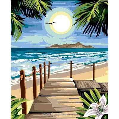 Canevas plage paradisiaque de Margot