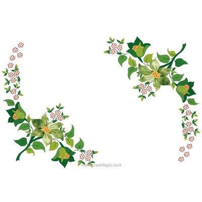 Kit napperon fraîcheur de fleurs à broder Luc Création à broder aux points de broderie imprimée