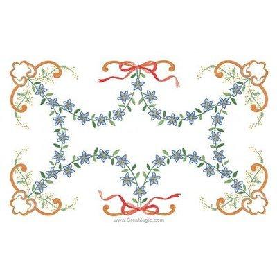 Napperon à broder en points de broderie générosité de fleurs de Luc Création