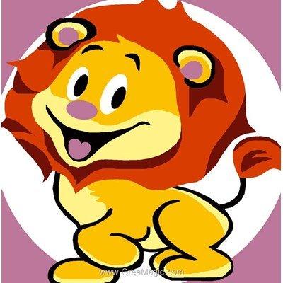 Kit canevas Luc Création pour enfant le lion star