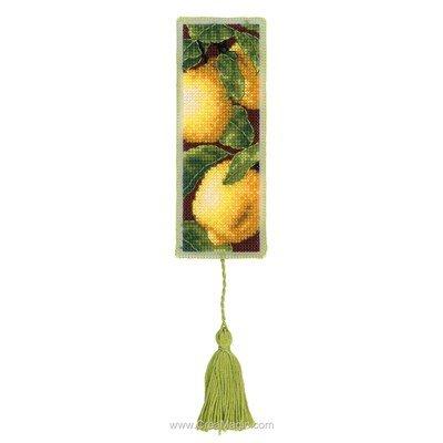 Marque pages Royal Paris à broder les citrons