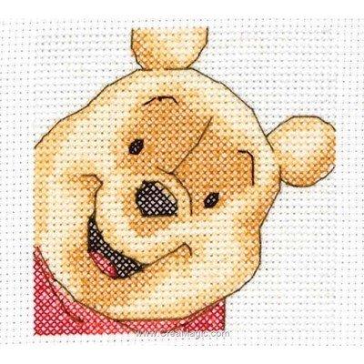 Pooh disney portrait broderie au point de croix point compté - Anchor