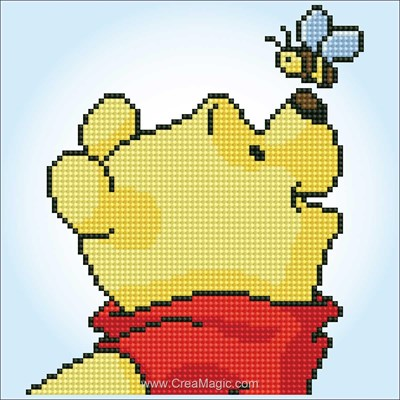Kit broderie diamant disney winnie pooh avec papillon - walt disney de Vervaco