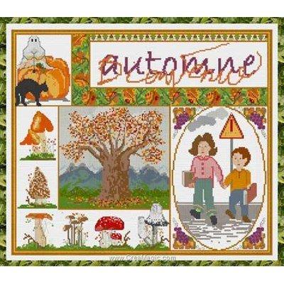 Kit Anagram à broder au point croix bienvenue automne