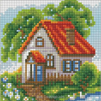 Broderie diamant Diamond Painting summer house