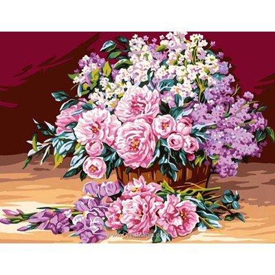 Bouquet aux pivoines canevas - Rafael Angelot