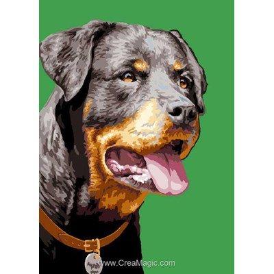 Rottweiler canevas chez Luc Création
