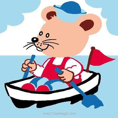 La promenade de la souris sur le lac kit canevas debutant - Luc Création