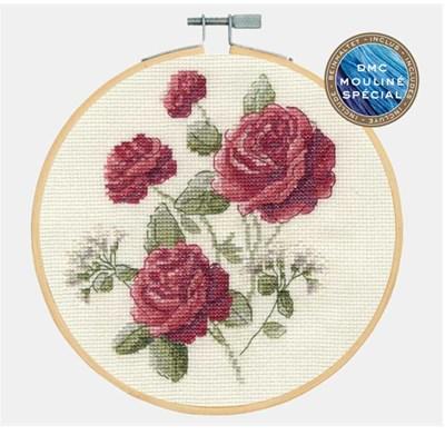 Broderie en point compté DMC collection flower - roses