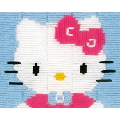 Kitty bleu canevas point lance - Vervaco