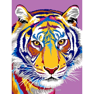 Canevas les dessins du tigre de Margot