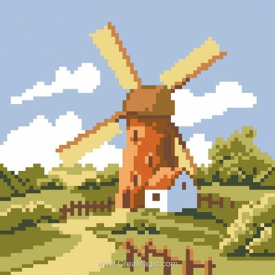 Kit broderie diamant windmill - Diamond Painting