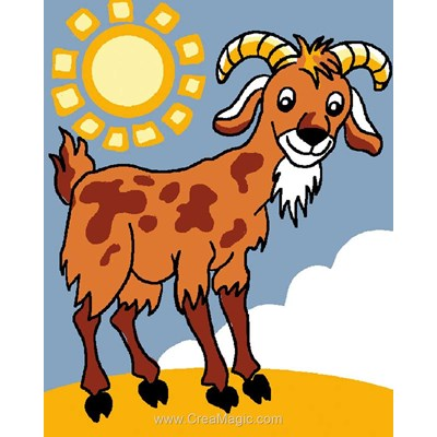 Canevas kit enfant complet chèvre au soleil - Luc Création