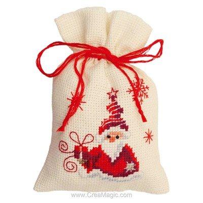 Sachet senteur à broder santa avec cadeau Vervaco