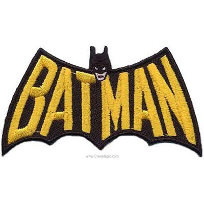 Ecusson thermocollant batman le nom - MLWD