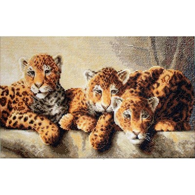 Kit Luca-S à broder au point de croix les 3 léopards