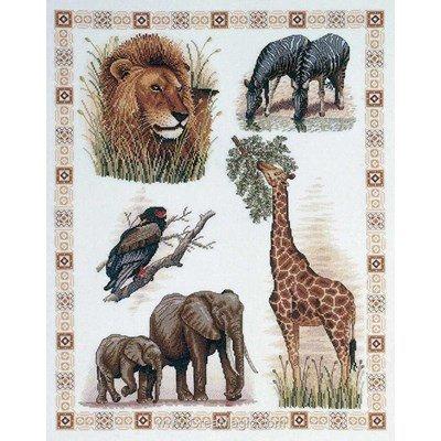 Royal Paris kit broderie les animaux de l'afrique