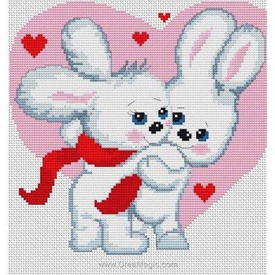 Kit Luca-S à broder lapins qui flirtent