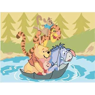 Les amis de winnie dans le parapluie - winnie the pooh canevas - DMC
