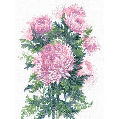 Bouquet de chrysanthèmes broderie en point compté - RIOLIS