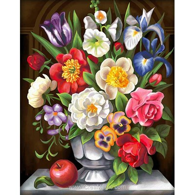 Broderie diamant flowers de Diamond Painting
