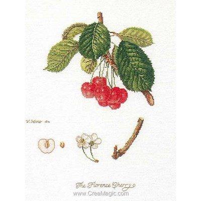 Kit au point de croix compté la vie du cerisier sur lin - Thea Gouverneur