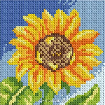 Broderie diamant Diamond Painting sunflower