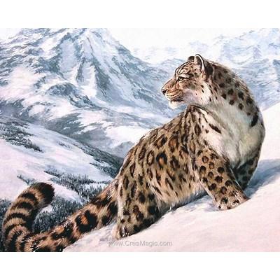 Broderie diamant snow leopard - Diamond Painting
