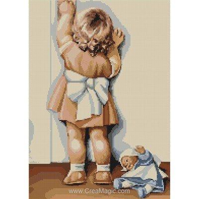 Broderie au point compté j'aide maman - Luca-S