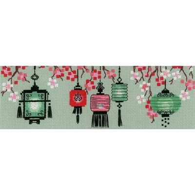 Lanternes chinoises broderie au point de croix compté - RIOLIS