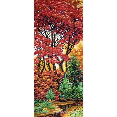 Broderie aida imprimée Collection d'art teintes d'automne