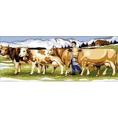 SEG canevas le troupeau de vache