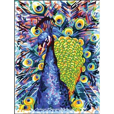 Portrait du paon canevas - Collection d'art