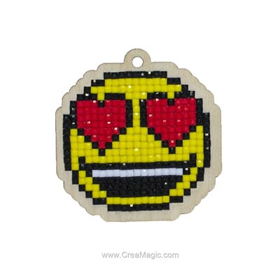 Kit broderie diamant smiley in love de Wizardi