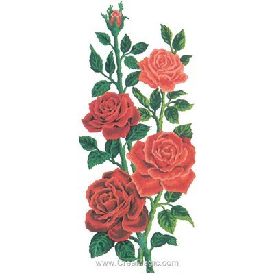Collection d'art canevas les roses rouges
