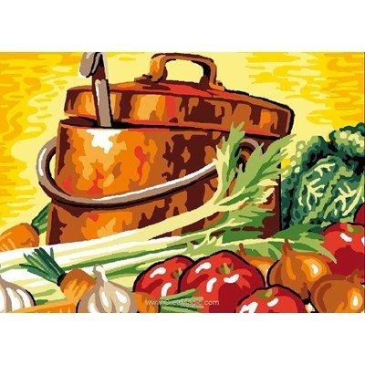 Soupe de légumes canevas - Luc Création