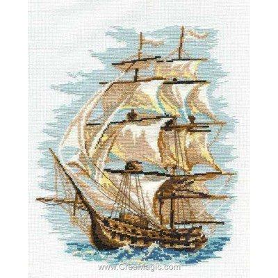 Kit broderie point de croix rêve de voilier de RIOLIS