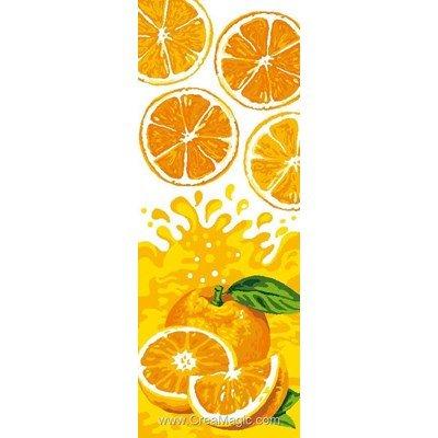 Luc Création canevas fraicheur agrumes orange