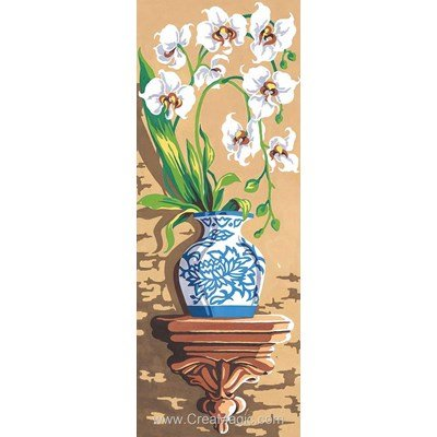 SEG canevas les orchidées blanche