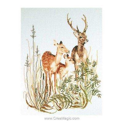 Kit Thea Gouverneur à broder deer family sur lin