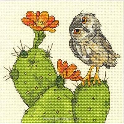 Kit point de croix de Dimensions à broder le hibou et le cactus